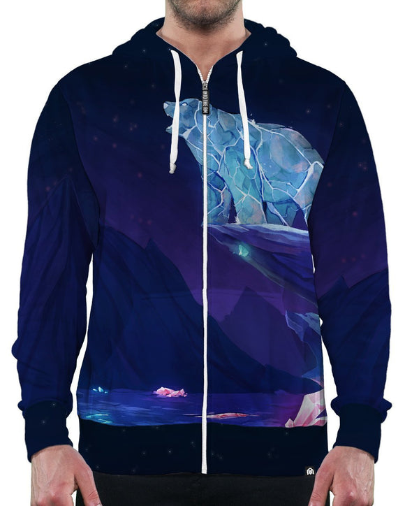 Crystals Zip-Up Hoodie-Male-Front