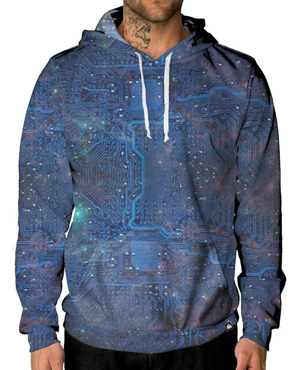 Cyber Space Pullover Hoodie-Male-Front