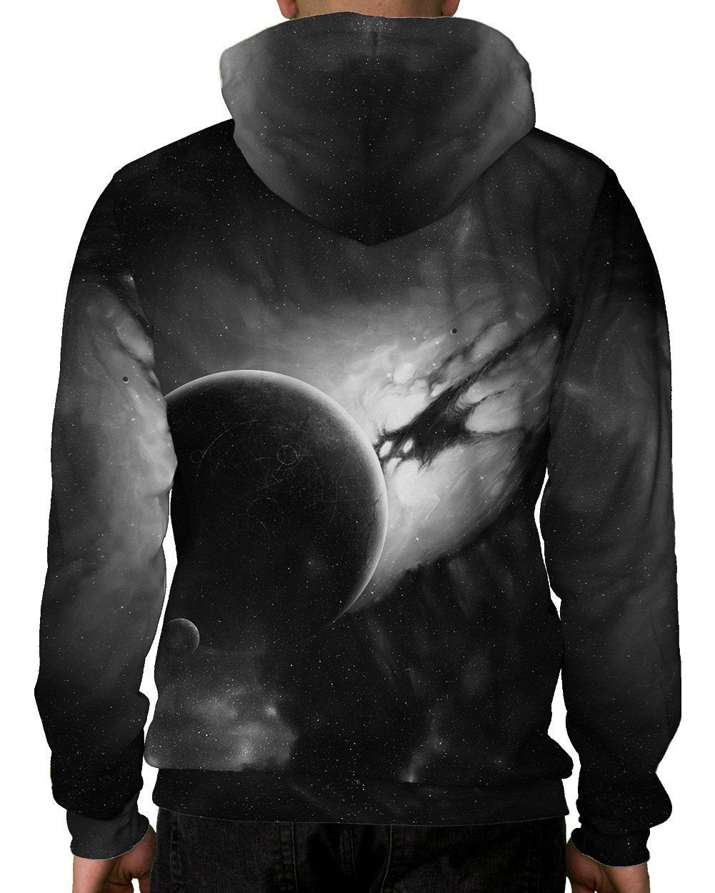 Distant Planet Pullover Hoodie-Male-Back