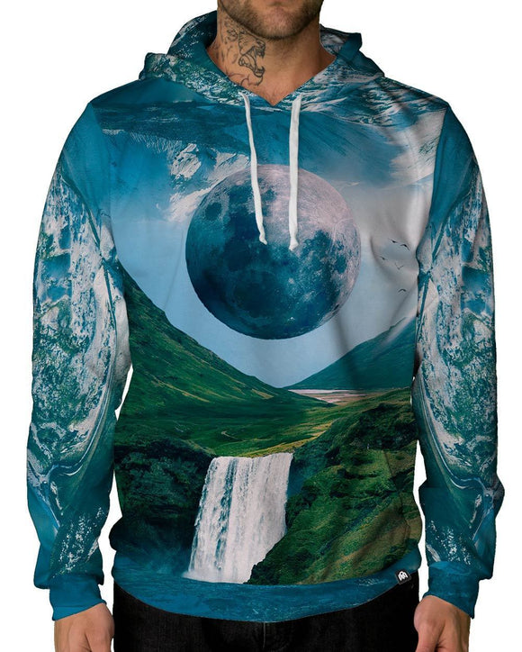Earth's Echo Pullover Hoodie-Male-Front