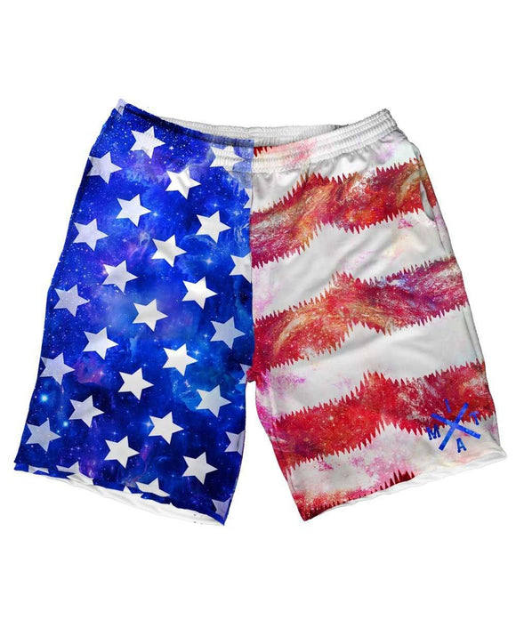 Galaxy, Stars & Stripes Weekend Shorts-front
