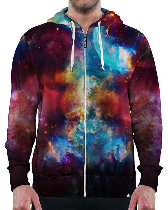 Galaxy Storm Zip-Up Hoodie-Front