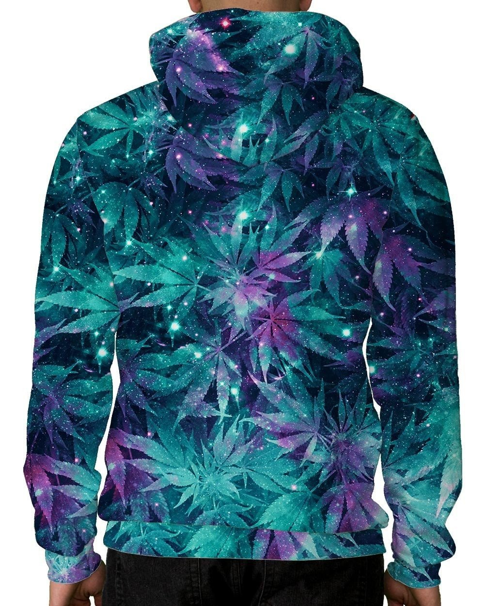 Ganja Galaxy Zip-Up Hoodie-Back