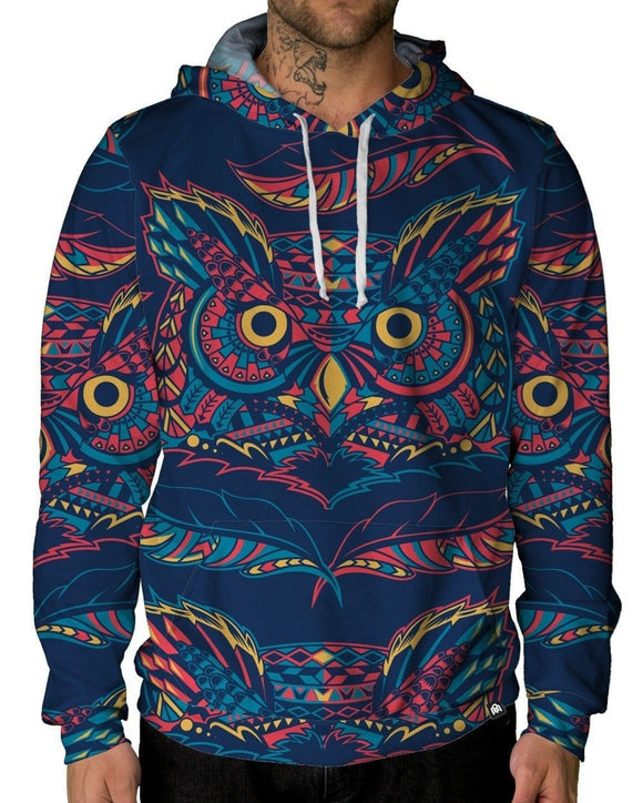 Hoot Pullover Hoodie-Male-Front