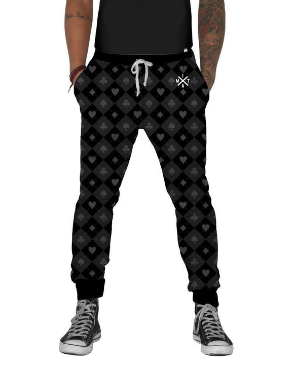 Monochrome Harley Quinn Joggers-front