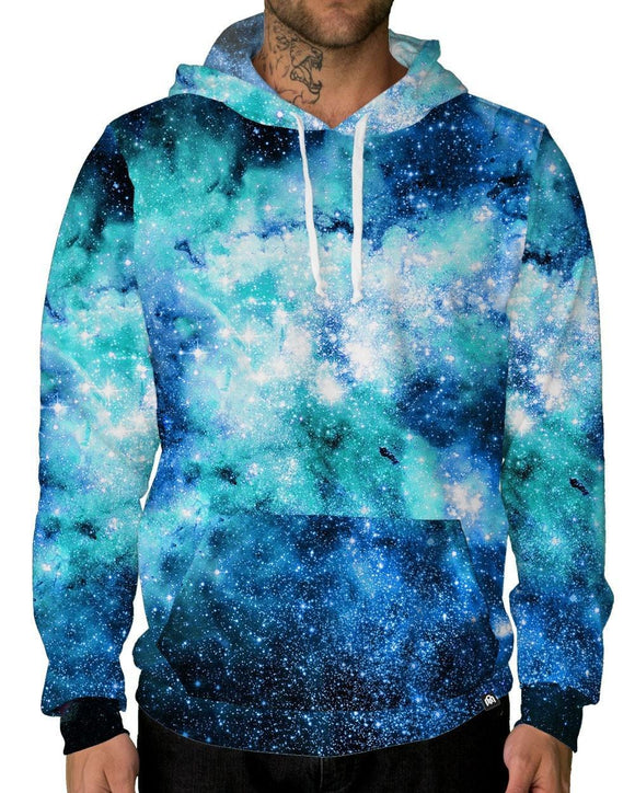Nebula Skies Pullover Hoodie-Male-Front
