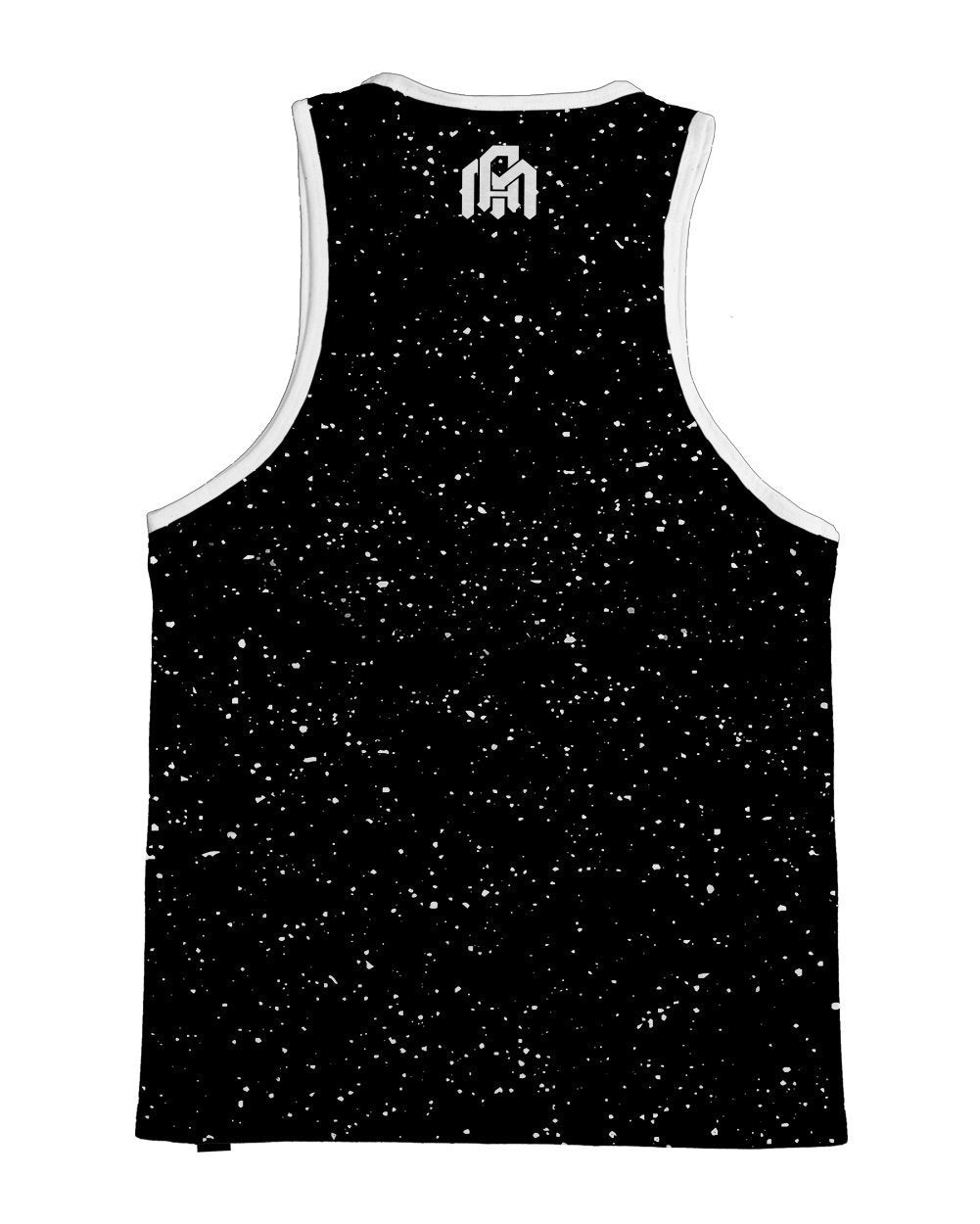 Paint Splatter -Black Men's Tank Top-Back