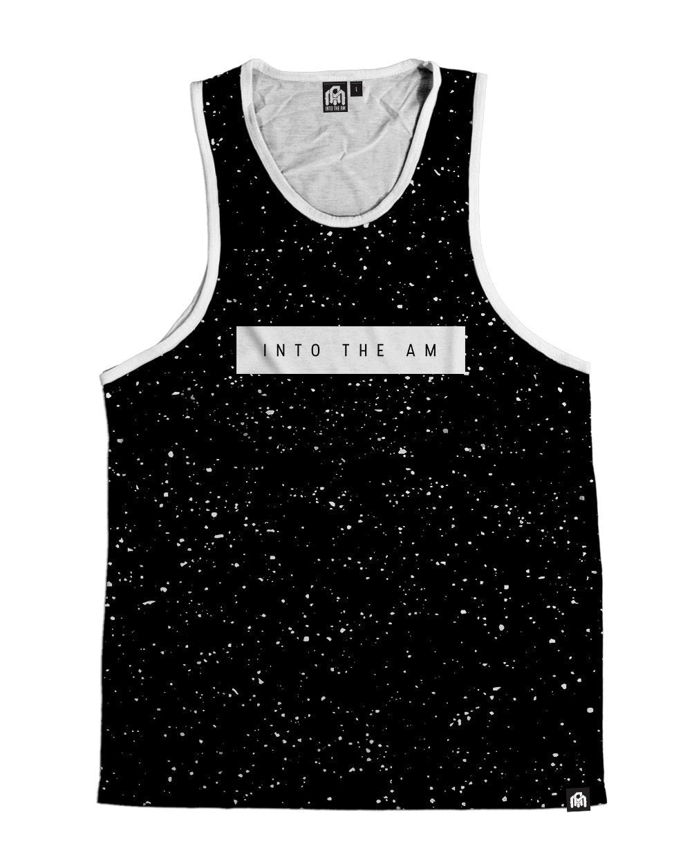 Paint Splatter -Black Men's Tank Top-Front