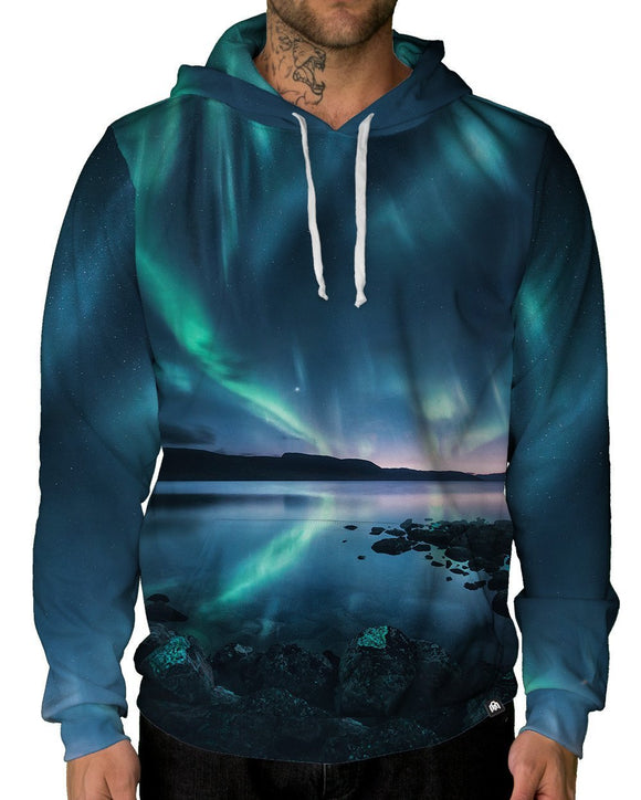 Polar Lights Pullover Hoodie-Male-Front