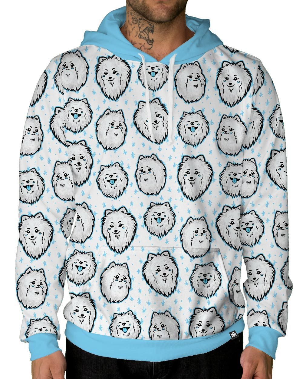 Shiro Heads Pullover Hoodie-Male-Front