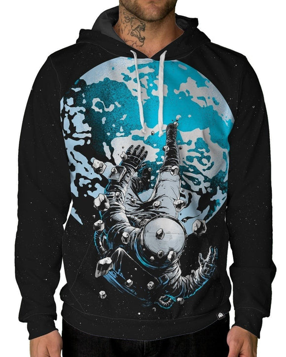 The Lost Astronaut Pullover Hoodie-Male-Front