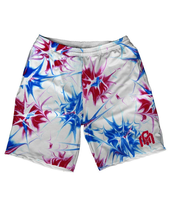 Tie Dye Fireworks Men's Athletic Shorts-Front
