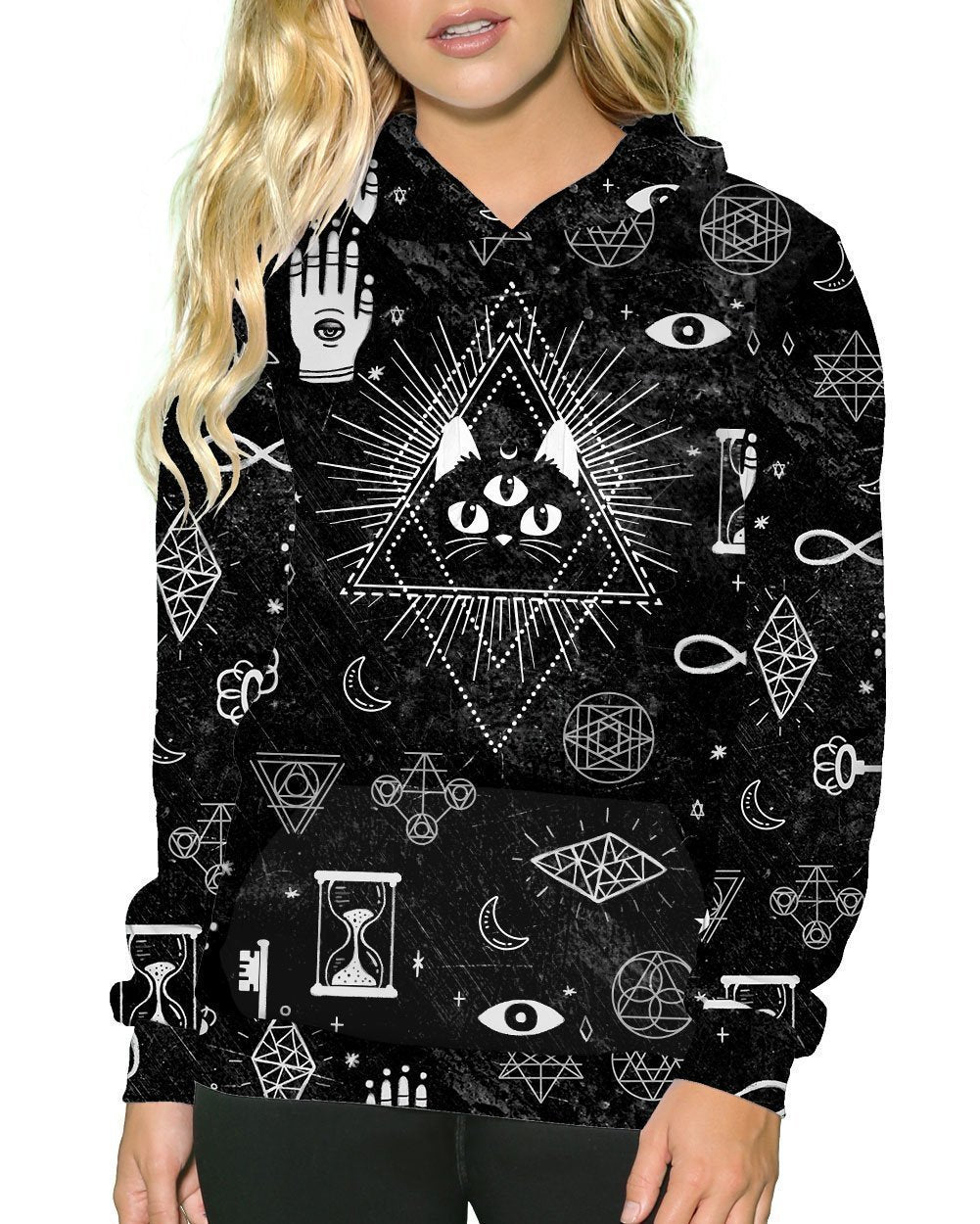 Voodoo Kitty Pullover Hoodie-Front