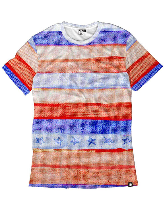 Watercolor Stripes Men's Tee-Front