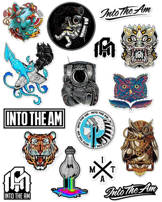 INTO THE AM Sticker Pack-Front