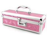 Lockable Metallic Pink Sex Toy Storage Case