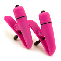 Hot Pink Vibrating Nipple Clamps