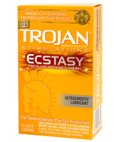 Trojan Ecstasy Ultra Ribbed Condoms