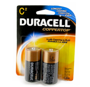 2 Duracell C-Cell Batteries