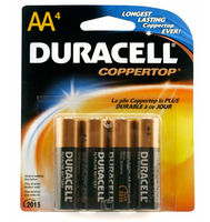 4 Duracell AA Batteries