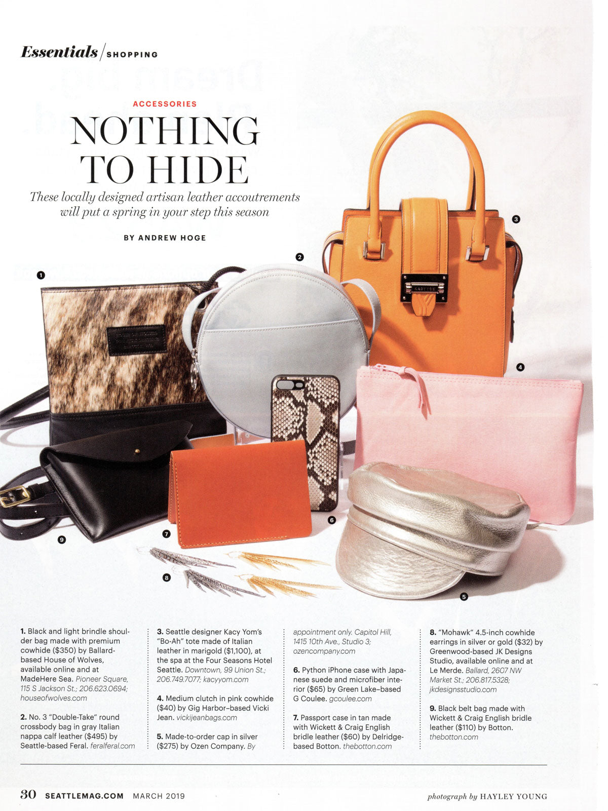 Seattle Magazine 9 Leather Accessories Spring Seattle KACYYOM