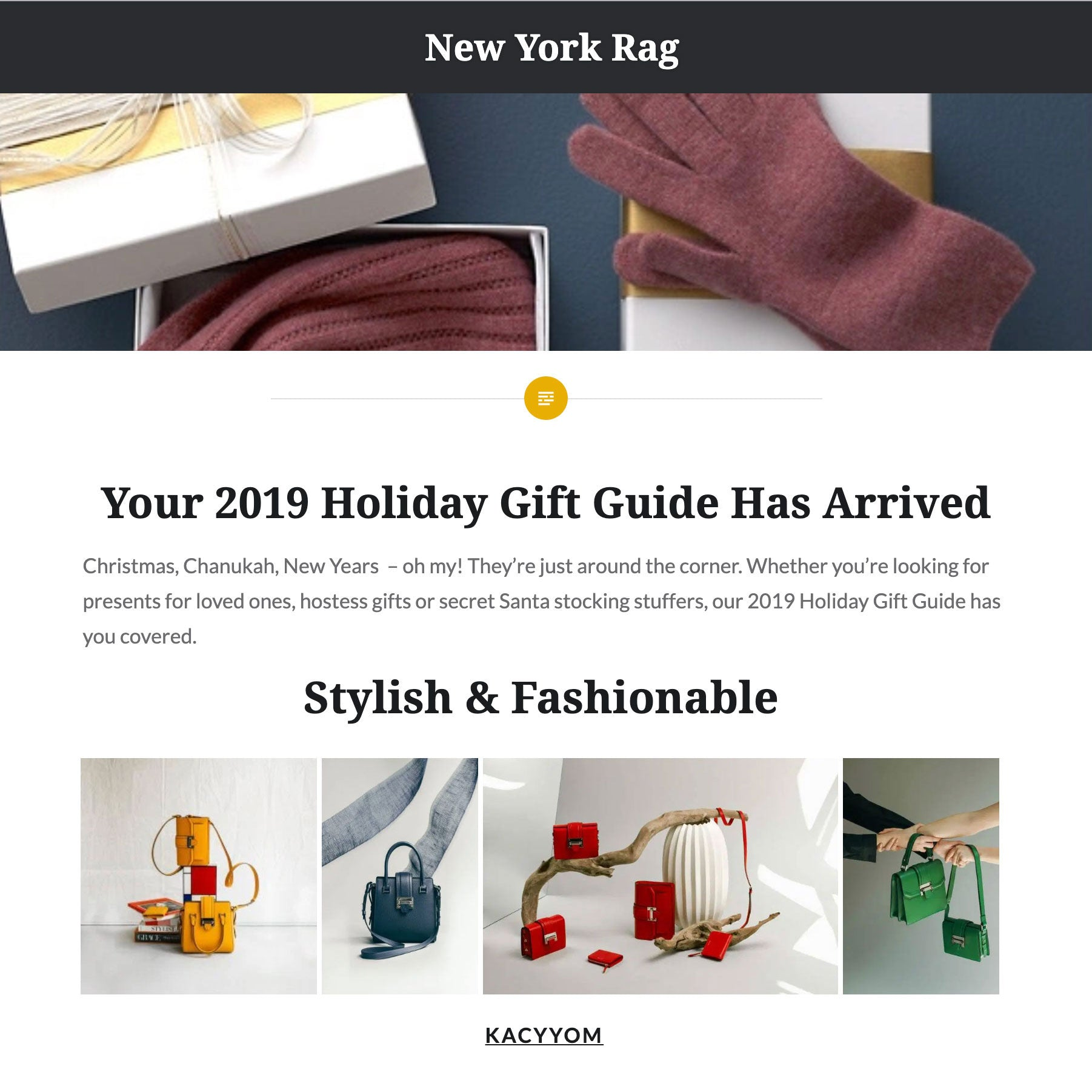 New York Rag 2019 Holiday Gift Guide