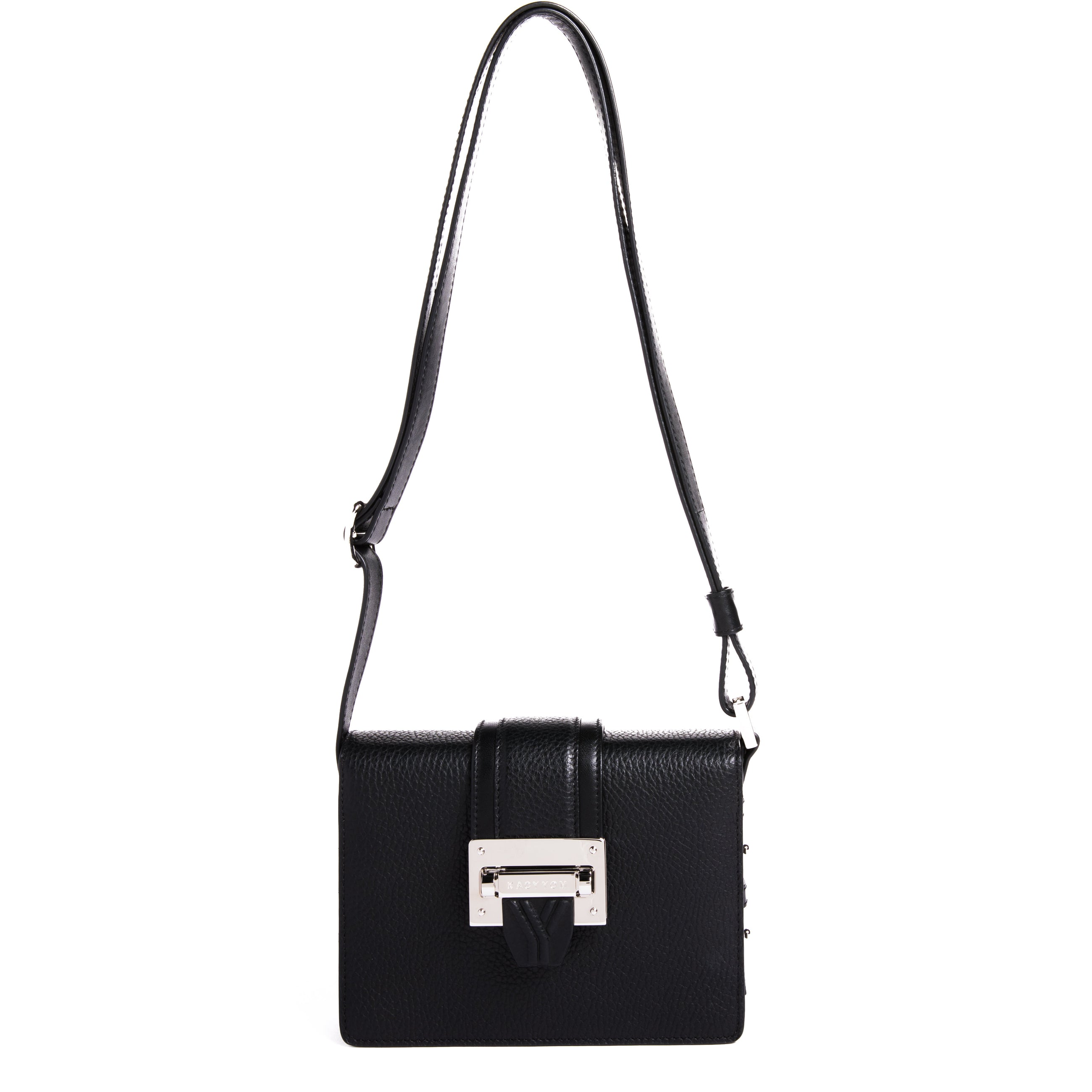 Cho-Rong Pebbled Mini Crossbody in Black