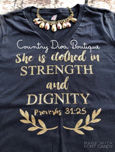 She Is Clothed In Dignity And Strength T Shirt