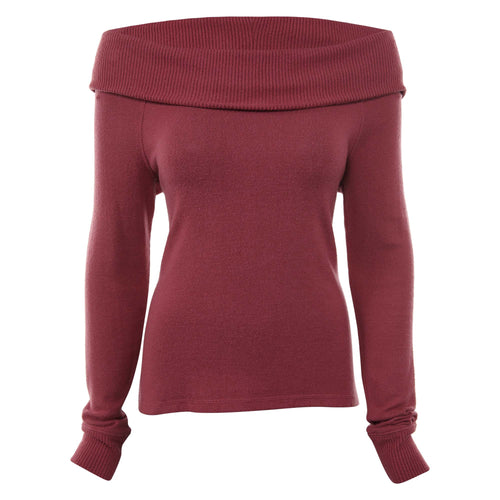 Abercrombie & Fitch Cozy Off-the-shoulder Tee Womens Style : 139-516-0460