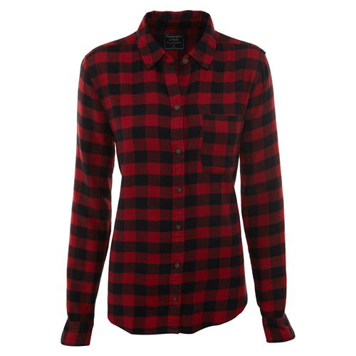 Abercrombie & Fitch Plaid Flannel Shirt Womens Style :  140-412-1892