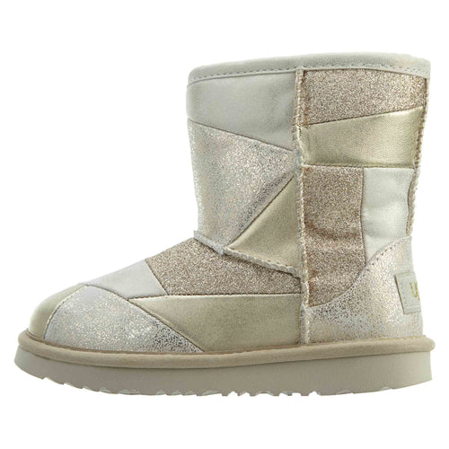 Ugg Classic Short Ii Patchwork Toddlers Style : 1096431t-GolD