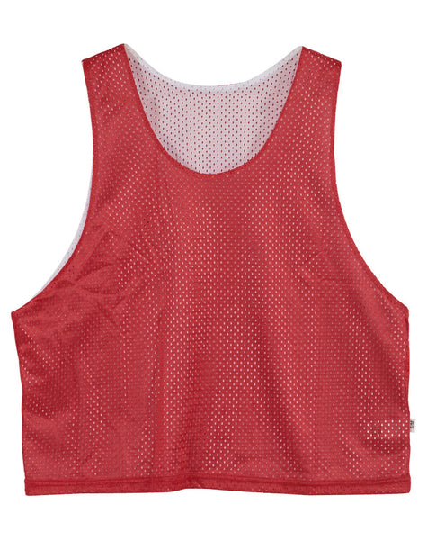 Power-tek Mens Red/ White Tricot Mesh Reversible Mens Style : 50150