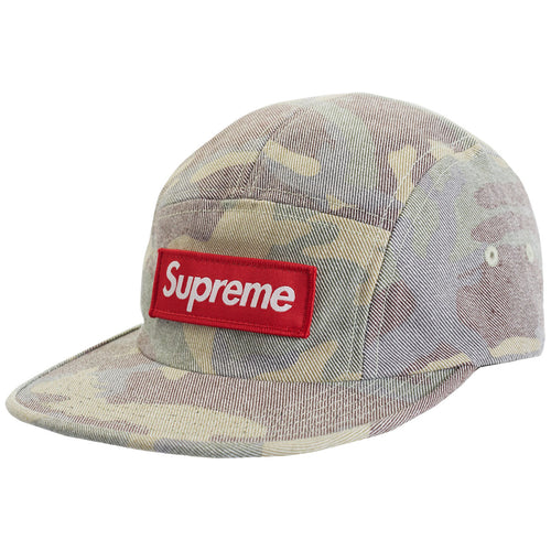 Supreme Washed Out Camo Camp Cap Unisex Style : Ss19h18