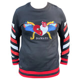 Damati Crewneck Fancy Sweatshirt Mens Style : Dmt-1222