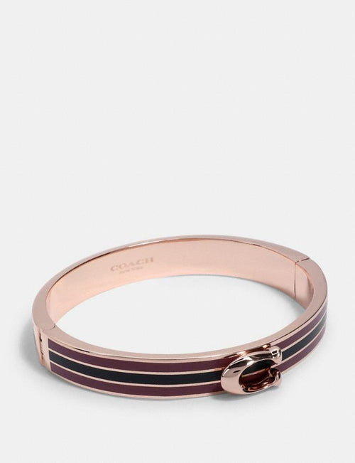 Coach Signature Bangle Style # 1729 Re/Rose/Midnight Navy