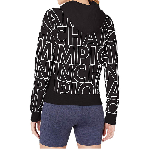 Champion Reverse Weave Po Hood-big Block Text Aop Womens Style : Wl757p