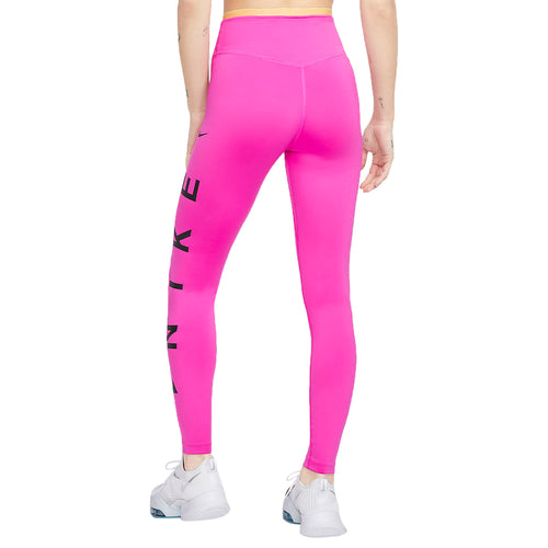 Nike One Icon Clash Graphic Mid-rise 7/8 Leggings Womens Style : Cj4145