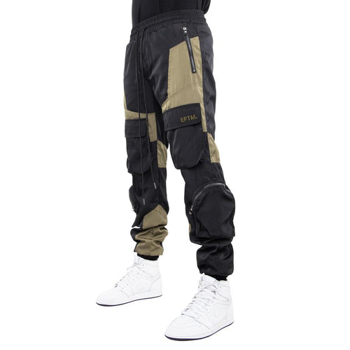 Eptm Color Block Nylon Pants Mens Style : P9690