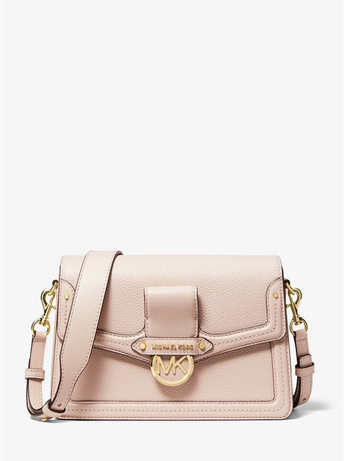 Jessie Medium Pebbled Leather Shoulder Bag | Michael Kors Style # 30F9GI6L2L Soft Pink