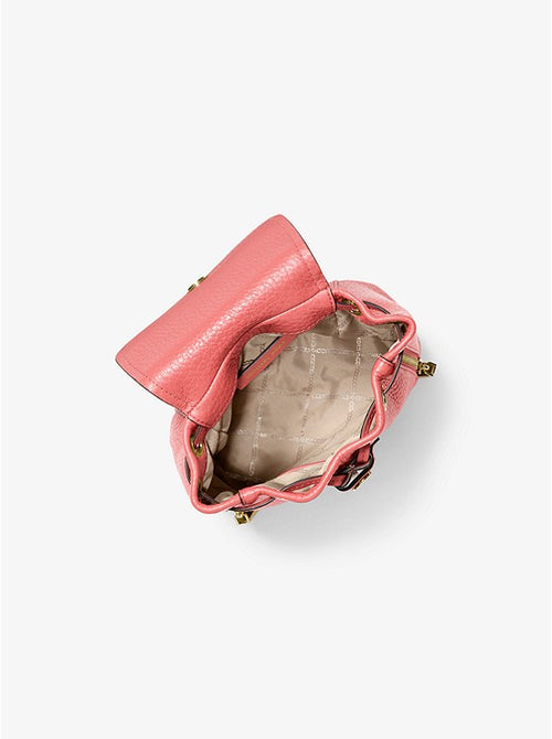 Viv Extra-small Pebbled Leather Backpack | Michael Kors Style # 30H9GVBB0L Pink|Grapefruit