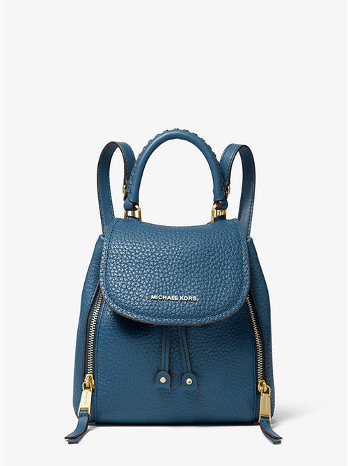 Viv Extra-small Pebbled Leather Backpack | Michael Kors Style # 30H9GVBB0L DK Chambray