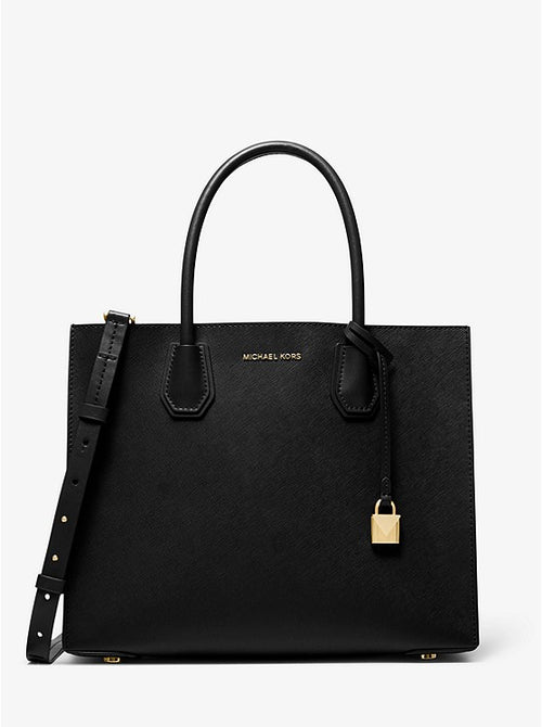 Mercer Large Saffiano Leather Tote Bag | Michael Kors Style # 30S0GM9T7L BLACK