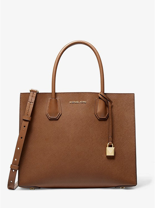 Mercer Large Saffiano Leather Tote Bag | Michael Kors Style # 30S0GM9T7L Luggage