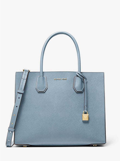 Mercer Large Saffiano Leather Tote Bag | Michael Kors Style # 30S0GM9T7L PALE BLUE