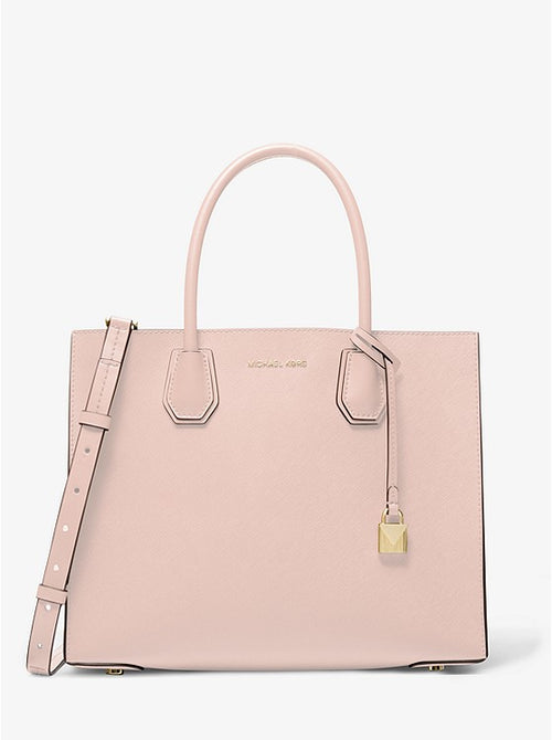 Mercer Large Saffiano Leather Tote Bag | Michael Kors Style # 30S0GM9T7L Soft Pink