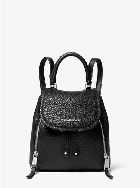 Viv Extra-small Pebbled Leather Backpack | Michael Kors Style# 30S0SVBB0L Black