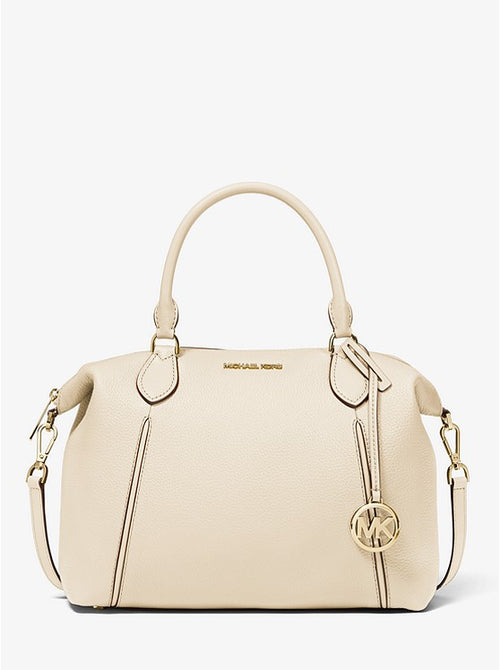 Lenox Large Pebbled Leather Shoulder Bag | Michael Kors Style # 35T0GIVS3L Lt. Cream