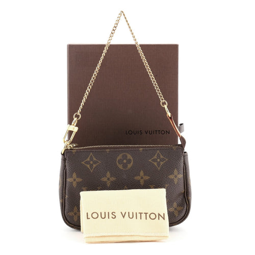 Louis Vuitton Pochette Accessoires Monogram Canvas Mini Brown 646211