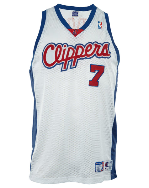 Champion NBA Clippers Lamar Odom #7 Los Angeles Authentic Jersey Mens Style : 401739