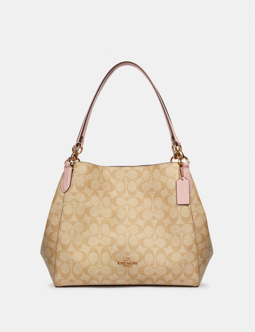 Hallie Shoulder Bag in Signature Canvas COACH Style # 80298 Im/Light Khaki Blossom